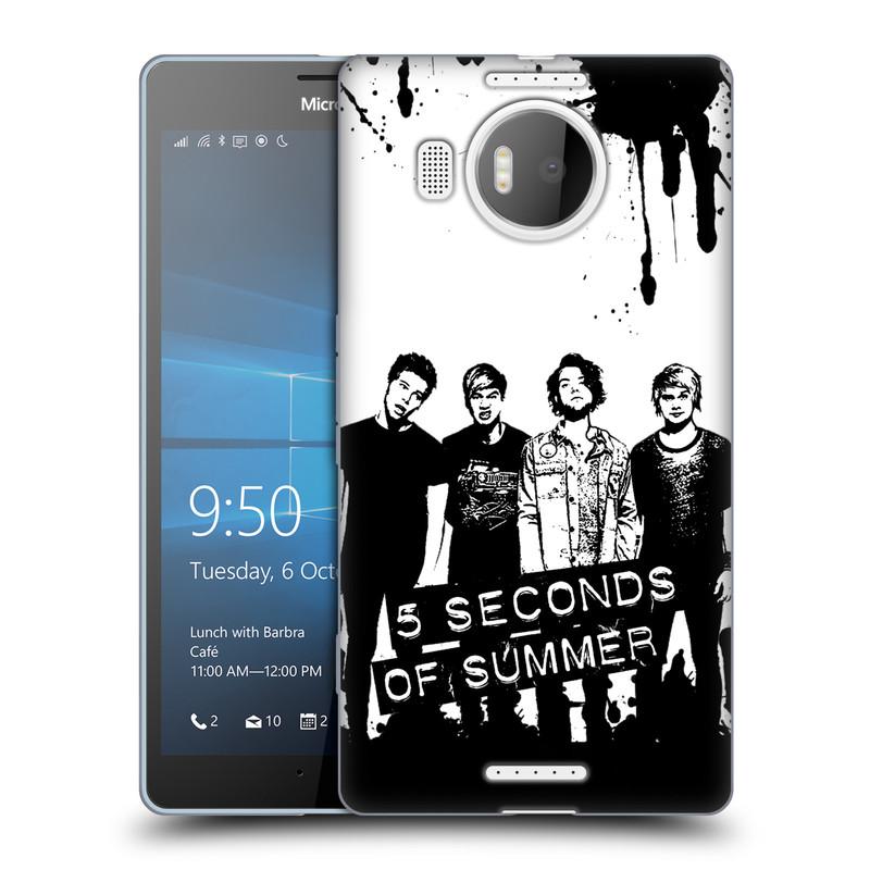 Silikonové pouzdro na mobil Microsoft Lumia 950 XL HEAD CASE 5 Seconds of Summer - Band Black and White (Silikonový kryt či obal na mobilní telefon licencovaným motivem 5 Seconds of Summer pro Microsoft Lumia 950 XL)