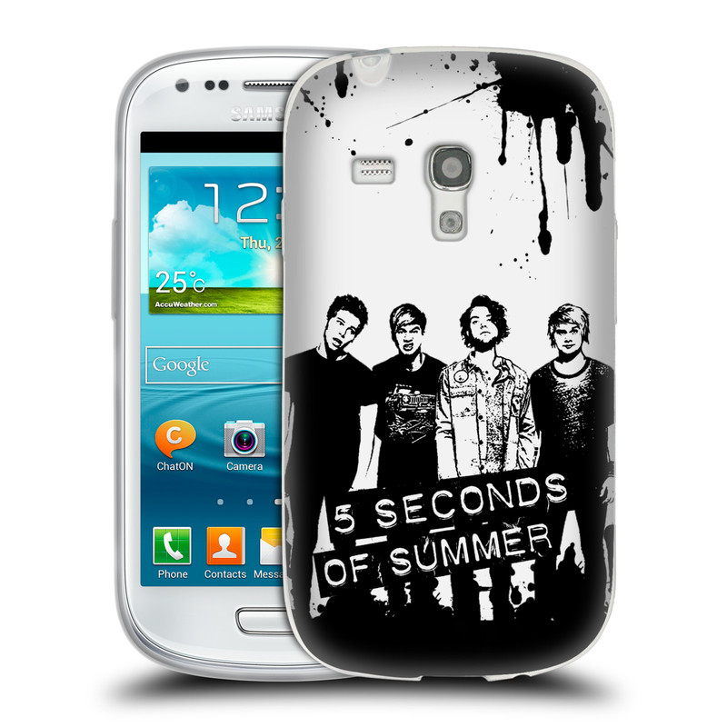 Silikonové pouzdro na mobil Samsung Galaxy S3 Mini VE HEAD CASE 5 Seconds of Summer - Band Black and White (Silikonový kryt či obal na mobilní telefon licencovaným motivem 5 Seconds of Summer pro Samsung Galaxy S3 Mini VE GT-i8200)