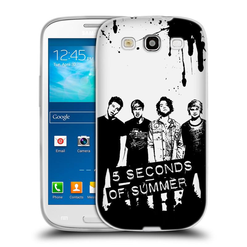 Silikonové pouzdro na mobil Samsung Galaxy S3 Neo HEAD CASE 5 Seconds of Summer - Band Black and White (Silikonový kryt či obal na mobilní telefon licencovaným motivem 5 Seconds of Summer pro Samsung Galaxy S3 Neo GT-i9301i)