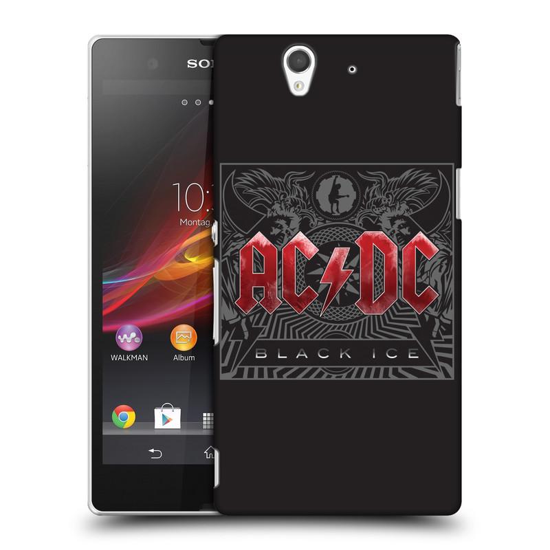 Plastové pouzdro na mobil Sony Xperia Z C6603 HEAD CASE AC/DC Black Ice (Plastový kryt či obal na mobilní telefon s oficiálním motivem australské skupiny AC/DC pro Sony Xperia Z)
