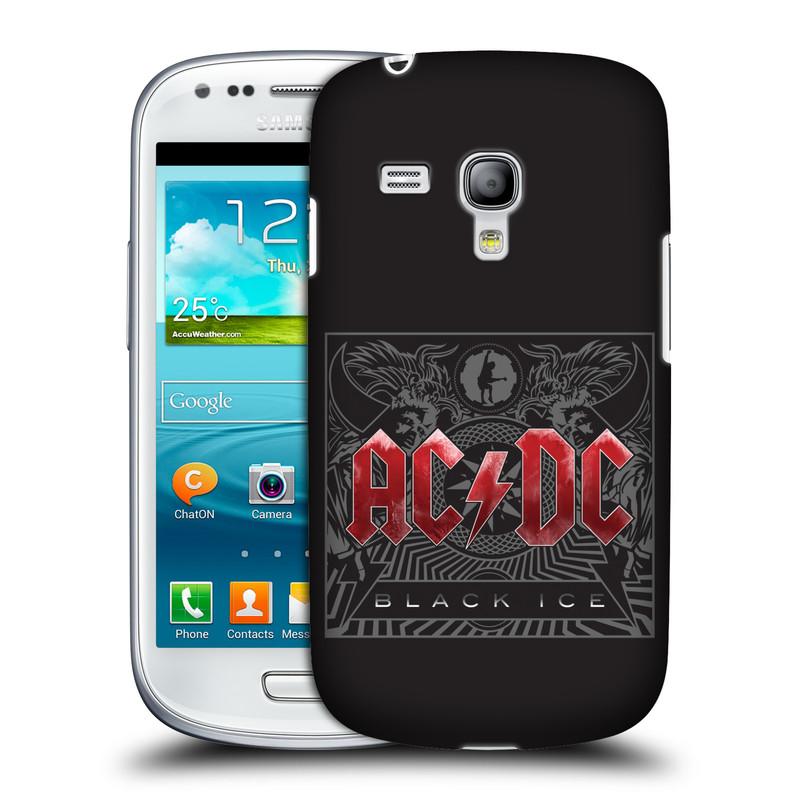 Plastové pouzdro na mobil Samsung Galaxy S III Mini HEAD CASE AC/DC Black Ice (Plastový kryt či obal na mobilní telefon s oficiálním motivem australské skupiny AC/DC pro Samsung Galaxy S III Mini GT-i8190)