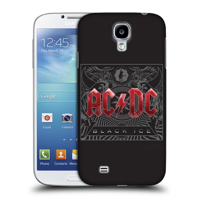 Plastové pouzdro na mobil Samsung Galaxy S4 HEAD CASE AC/DC Black Ice (Plastový kryt či obal na mobilní telefon s oficiálním motivem australské skupiny AC/DC pro Samsung Galaxy S4 GT-i9505 / i9500)