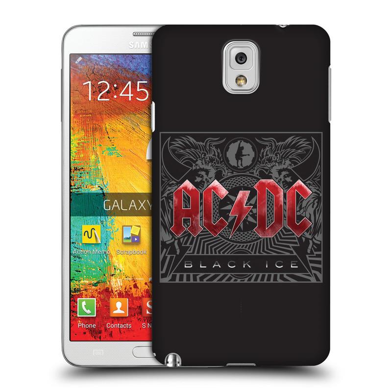 Plastové pouzdro na mobil Samsung Galaxy Note 3 HEAD CASE AC/DC Black Ice (Plastový kryt či obal na mobilní telefon s oficiálním motivem australské skupiny AC/DC pro Samsung Galaxy Note 3 SM-N9005)
