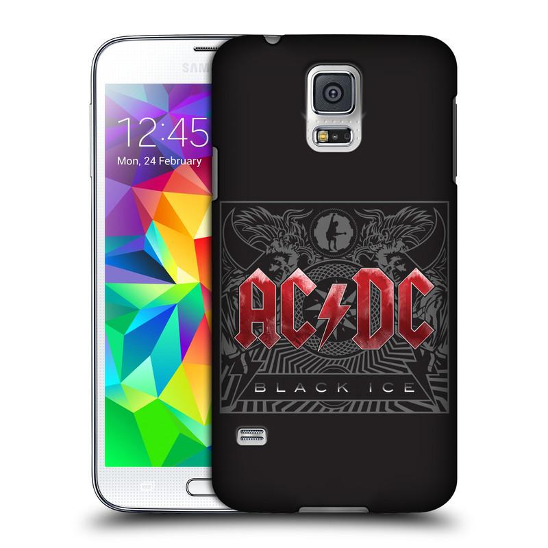 Plastové pouzdro na mobil Samsung Galaxy S5 HEAD CASE AC/DC Black Ice (Plastový kryt či obal na mobilní telefon s oficiálním motivem australské skupiny AC/DC pro Samsung Galaxy S5 SM-G900F)