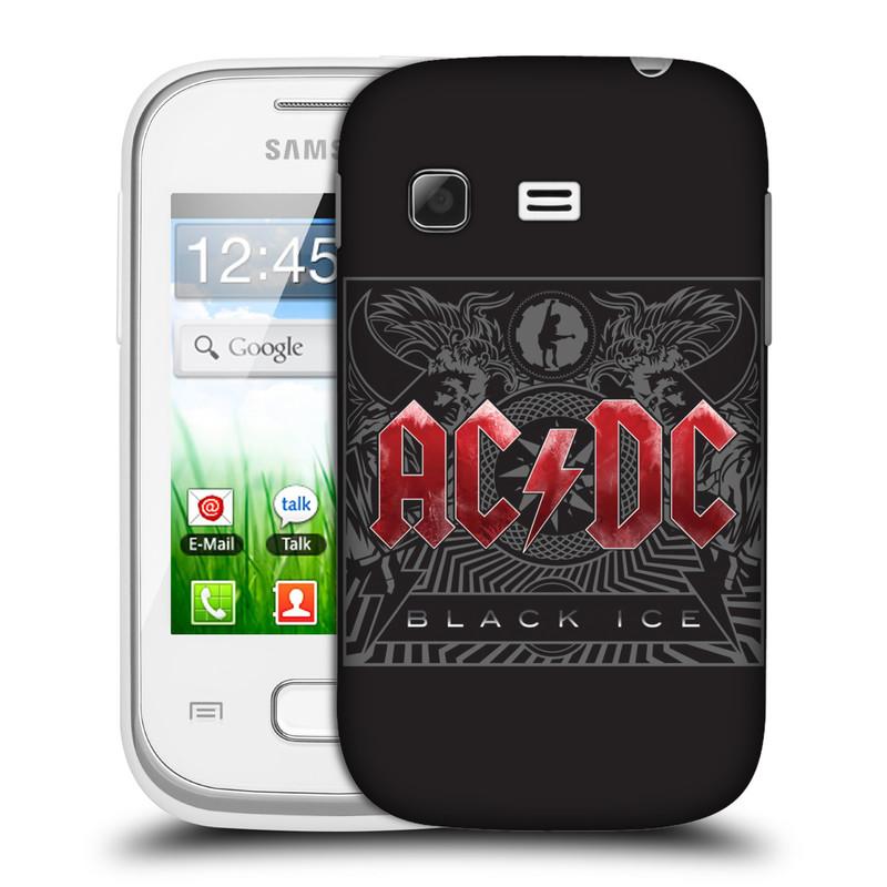 Plastové pouzdro na mobil Samsung Galaxy Pocket HEAD CASE AC/DC Black Ice (Plastový kryt či obal na mobilní telefon s oficiálním motivem australské skupiny AC/DC pro Samsung Galaxy Pocket GT-S5300)