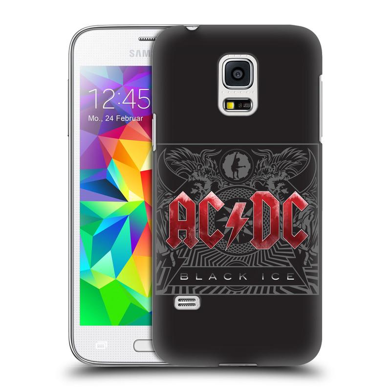 Plastové pouzdro na mobil Samsung Galaxy S5 Mini HEAD CASE AC/DC Black Ice (Plastový kryt či obal na mobilní telefon s oficiálním motivem australské skupiny AC/DC pro Samsung Galaxy S5 Mini SM-G800F)