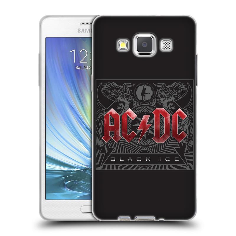 Silikonové pouzdro na mobil Samsung Galaxy A5 HEAD CASE AC/DC Black Ice (Silikonový kryt či obal na mobilní telefon s oficiálním motivem australské skupiny AC/DC pro Samsung Galaxy A5 SM-A500)