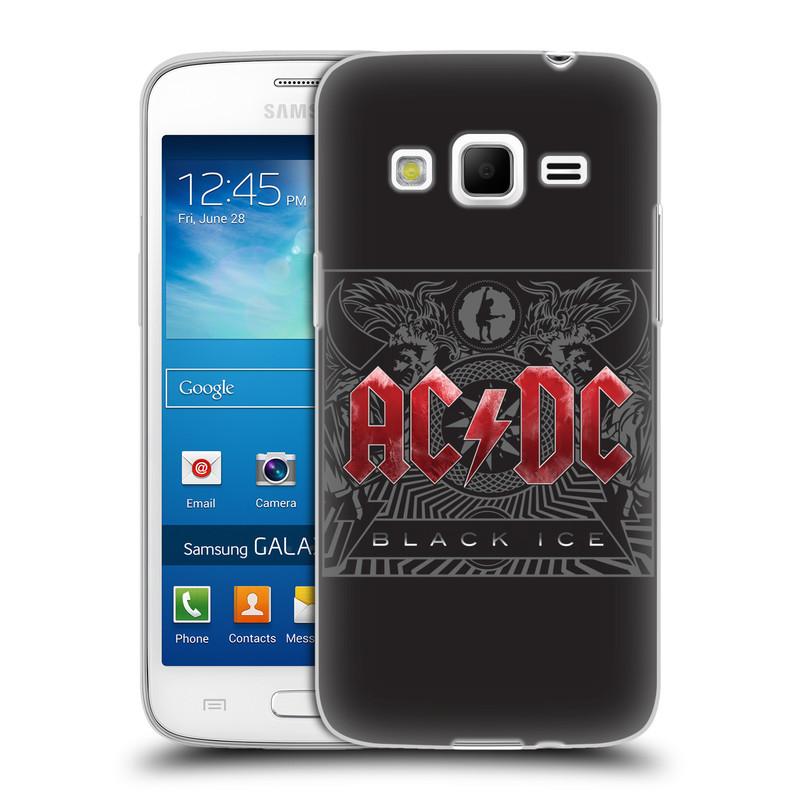 Silikonové pouzdro na mobil Samsung Galaxy Express 2 HEAD CASE AC/DC Black Ice (Silikonový kryt či obal na mobilní telefon s oficiálním motivem australské skupiny AC/DC pro Samsung Galaxy Express 2 SM-G3815)