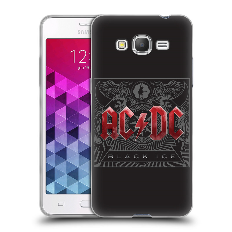 Silikonové pouzdro na mobil Samsung Galaxy Grand Prime VE HEAD CASE AC/DC Black Ice (Silikonový kryt či obal na mobilní telefon s oficiálním motivem australské skupiny AC/DC pro Samsung Galaxy Grand Prime VE SM-G531F)