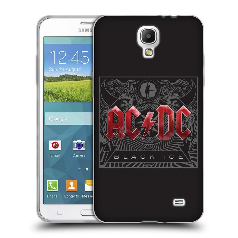 Silikonové pouzdro na mobil Samsung Galaxy Grand Mega 2 HEAD CASE AC/DC Black Ice (Silikonový kryt či obal na mobilní telefon s oficiálním motivem australské skupiny AC/DC pro Samsung Galaxy Grand Mega 2 SM-G750)