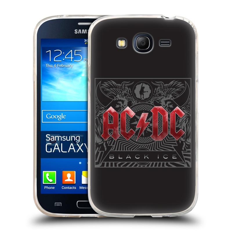 Silikonové pouzdro na mobil Samsung Galaxy Grand Neo HEAD CASE AC/DC Black Ice (Silikonový kryt či obal na mobilní telefon s oficiálním motivem australské skupiny AC/DC pro Samsung Galaxy Grand Neo GT-I9060)