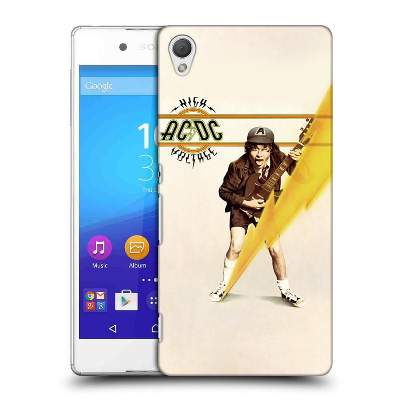 Plastové pouzdro na mobil Sony Xperia Z3+ (Plus) HEAD CASE AC/DC High Voltage (Plastový kryt či obal na mobilní telefon s oficiálním motivem australské skupiny AC/DC pro Sony Xperia Z3+ a Sony Xperia Z4 )