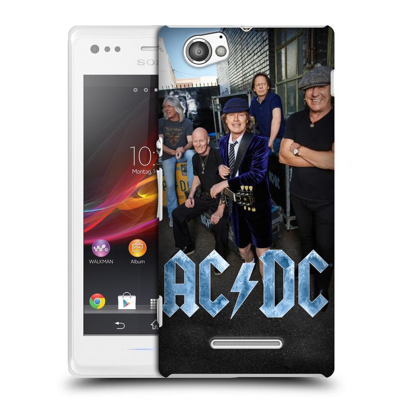 Plastové pouzdro na mobil Sony Xperia M C1905 HEAD CASE AC/DC Skupina barevně (Plastový kryt či obal na mobilní telefon s oficiálním motivem australské skupiny AC/DC pro Sony Xperia M )