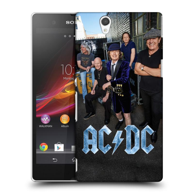 Plastové pouzdro na mobil Sony Xperia Z C6603 HEAD CASE AC/DC Skupina barevně (Plastový kryt či obal na mobilní telefon s oficiálním motivem australské skupiny AC/DC pro Sony Xperia Z)