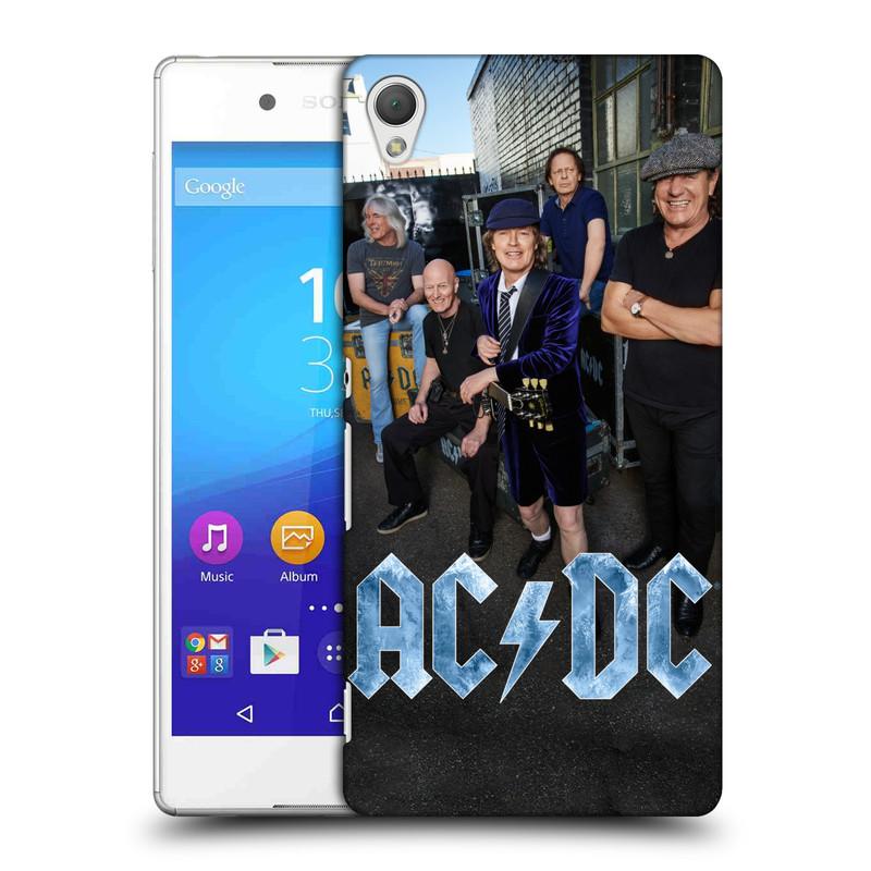 Plastové pouzdro na mobil Sony Xperia Z3+ (Plus) HEAD CASE AC/DC Skupina barevně (Plastový kryt či obal na mobilní telefon s oficiálním motivem australské skupiny AC/DC pro Sony Xperia Z3+ a Sony Xperia Z4 )