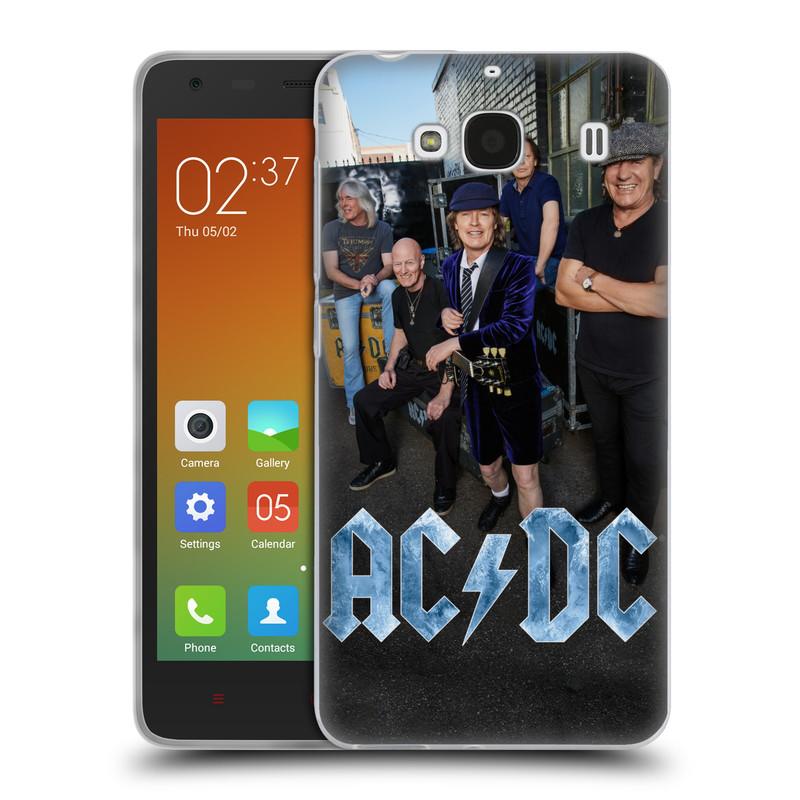 Silikonové pouzdro na mobil Xiaomi Redmi 2 HEAD CASE AC/DC Skupina barevně (Silikonový kryt či obal na mobilní telefon s oficiálním motivem australské skupiny AC/DC pro Xiaomi Redmi 2)