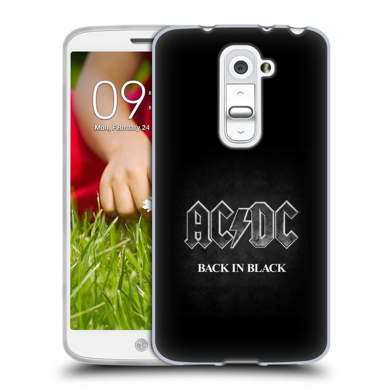 Silikonové pouzdro na mobil LG G2 Mini HEAD CASE AC/DC BACK IN BLACK (Silikonový kryt či obal na mobilní telefon s oficiálním motivem australské skupiny AC/DC pro LG G2 Mini D620)