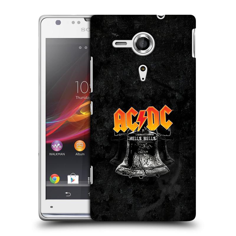 Plastové pouzdro na mobil Sony Xperia SP C5303 HEAD CASE AC/DC Hells Bells (Plastový kryt či obal na mobilní telefon s oficiálním motivem australské skupiny AC/DC pro Sony Xperia SP)