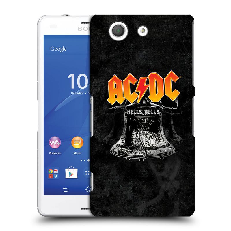Plastové pouzdro na mobil Sony Xperia Z3 Compact D5803 HEAD CASE AC/DC Hells Bells (Plastový kryt či obal na mobilní telefon s oficiálním motivem australské skupiny AC/DC pro Sony Xperia Z3 Compact)