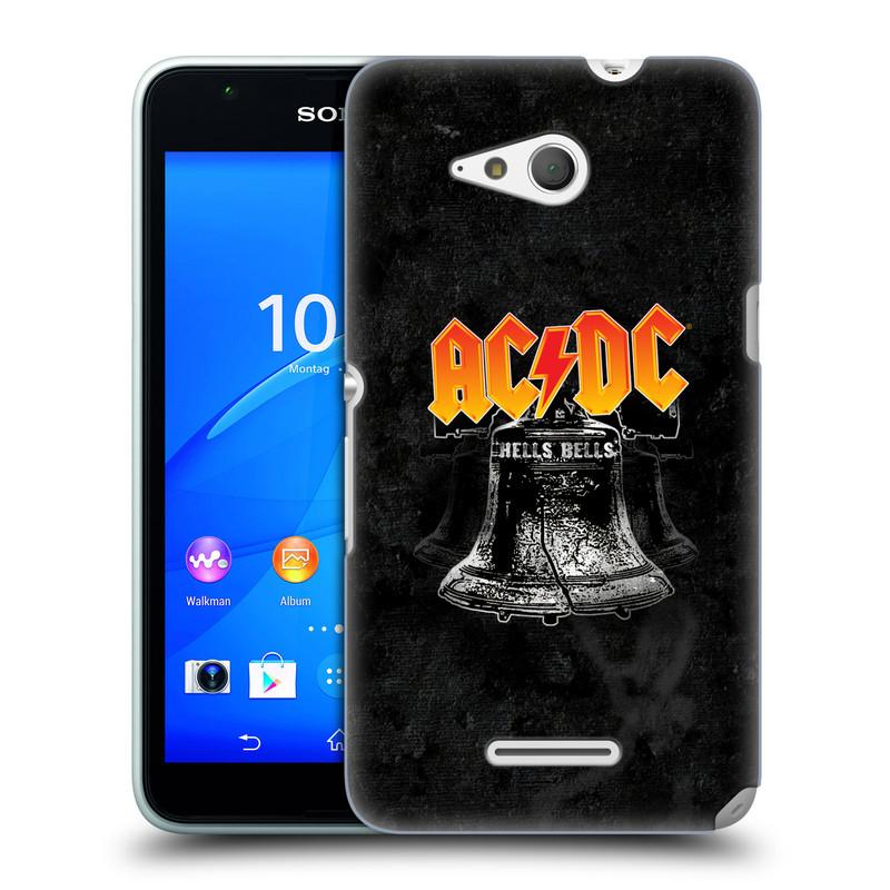 Plastové pouzdro na mobil Sony Xperia E4g E2003 HEAD CASE AC/DC Hells Bells (Plastový kryt či obal na mobilní telefon s oficiálním motivem australské skupiny AC/DC pro Sony Xperia E4g a E4g Dual SIM)
