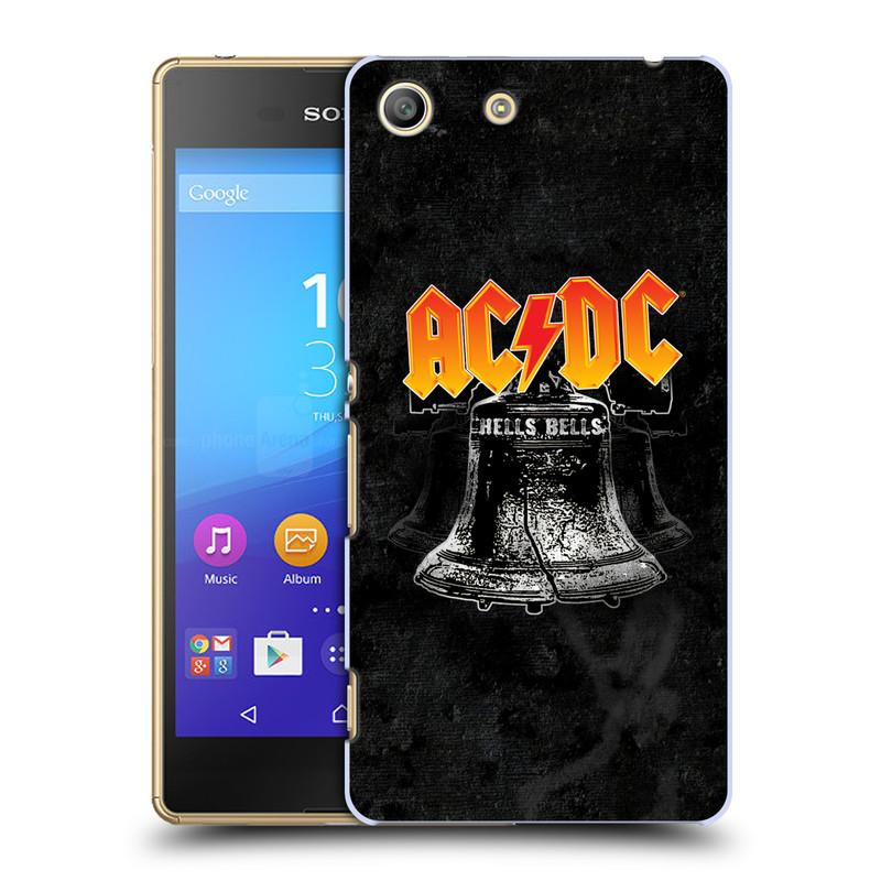 Plastové pouzdro na mobil Sony Xperia M5 HEAD CASE AC/DC Hells Bells (Plastový kryt či obal na mobilní telefon s oficiálním motivem australské skupiny AC/DC pro Sony Xperia M5 Aqua)