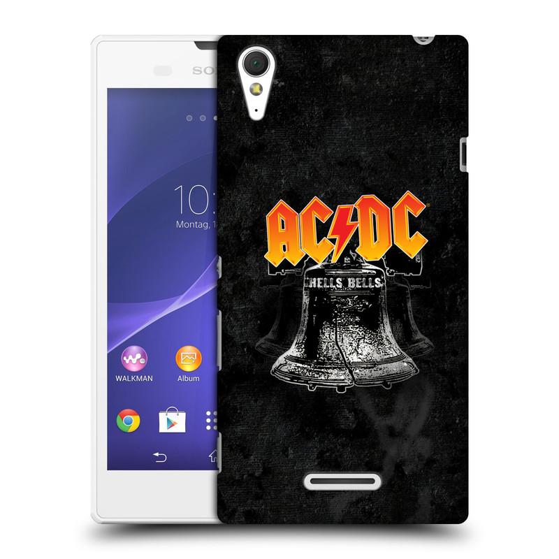 Plastové pouzdro na mobil Sony Xperia T3 D5103 HEAD CASE AC/DC Hells Bells (Plastový kryt či obal na mobilní telefon s oficiálním motivem australské skupiny AC/DC pro Sony Xperia T3)