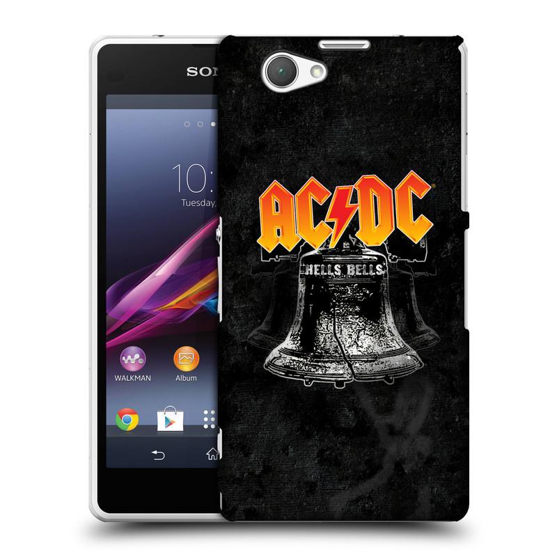 Plastové pouzdro na mobil Sony Xperia Z1 Compact D5503 HEAD CASE AC/DC Hells Bells (Plastový kryt či obal na mobilní telefon s oficiálním motivem australské skupiny AC/DC pro Sony Xperia Z1 Compact)