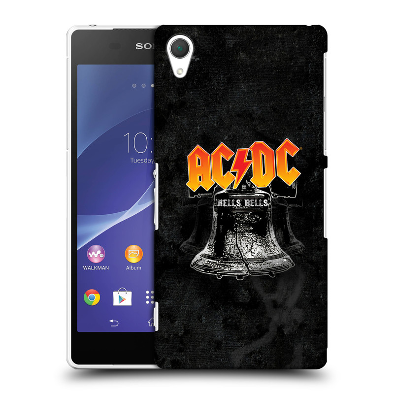 Plastové pouzdro na mobil Sony Xperia Z2 D6503 HEAD CASE AC/DC Hells Bells (Plastový kryt či obal na mobilní telefon s oficiálním motivem australské skupiny AC/DC pro Sony Xperia Z2)