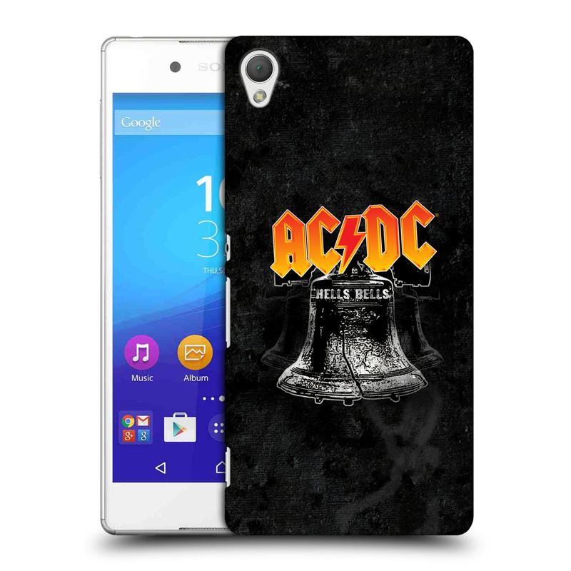 Plastové pouzdro na mobil Sony Xperia Z3+ (Plus) HEAD CASE AC/DC Hells Bells (Plastový kryt či obal na mobilní telefon s oficiálním motivem australské skupiny AC/DC pro Sony Xperia Z3+ a Sony Xperia Z4 )