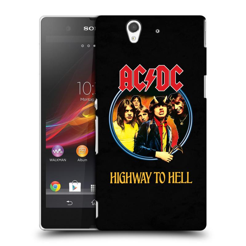 Plastové pouzdro na mobil Sony Xperia Z C6603 HEAD CASE AC/DC Highway to Hell (Plastový kryt či obal na mobilní telefon s oficiálním motivem australské skupiny AC/DC pro Sony Xperia Z)