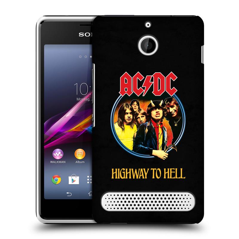 Plastové pouzdro na mobil Sony Xperia E1 D2005 HEAD CASE AC/DC Highway to Hell (Plastový kryt či obal na mobilní telefon s oficiálním motivem australské skupiny AC/DC pro Sony Xperia E1 a E1 Dual)