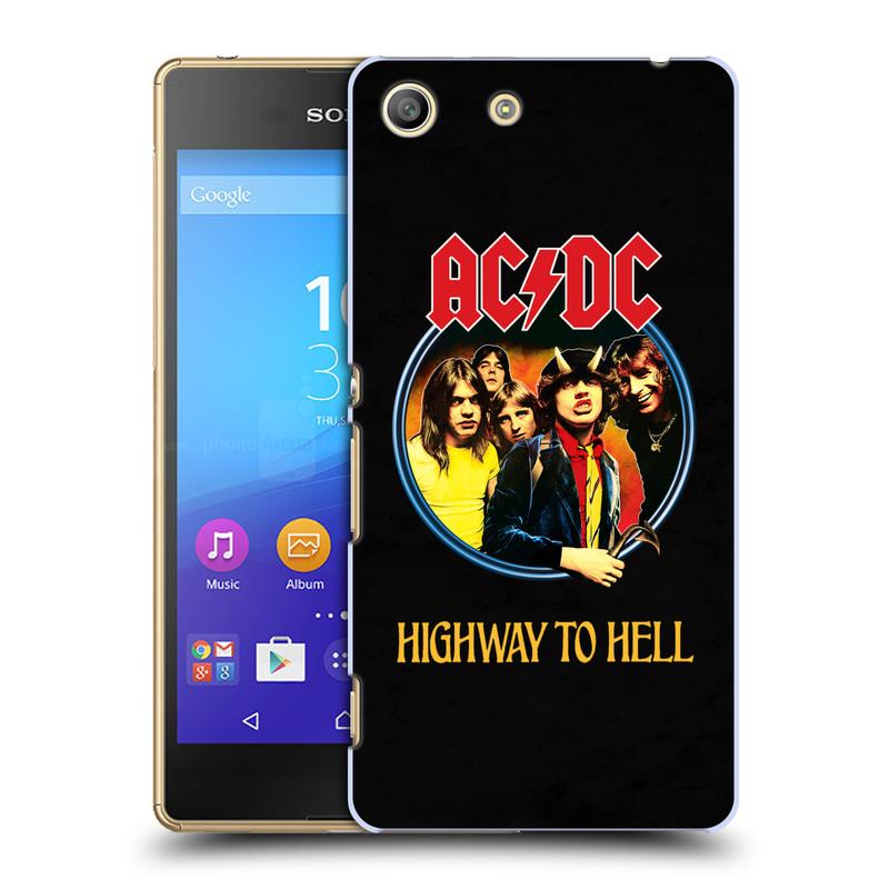 Plastové pouzdro na mobil Sony Xperia M5 HEAD CASE AC/DC Highway to Hell (Plastový kryt či obal na mobilní telefon s oficiálním motivem australské skupiny AC/DC pro Sony Xperia M5 Aqua)