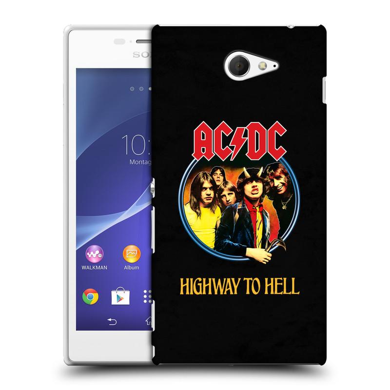 Plastové pouzdro na mobil Sony Xperia M2 D2303 HEAD CASE AC/DC Highway to Hell (Plastový kryt či obal na mobilní telefon s oficiálním motivem australské skupiny AC/DC pro Sony Xperia M2 )