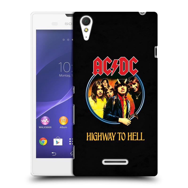 Plastové pouzdro na mobil Sony Xperia T3 D5103 HEAD CASE AC/DC Highway to Hell (Plastový kryt či obal na mobilní telefon s oficiálním motivem australské skupiny AC/DC pro Sony Xperia T3)