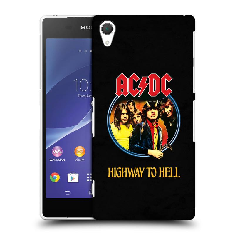 Plastové pouzdro na mobil Sony Xperia Z2 D6503 HEAD CASE AC/DC Highway to Hell (Plastový kryt či obal na mobilní telefon s oficiálním motivem australské skupiny AC/DC pro Sony Xperia Z2)