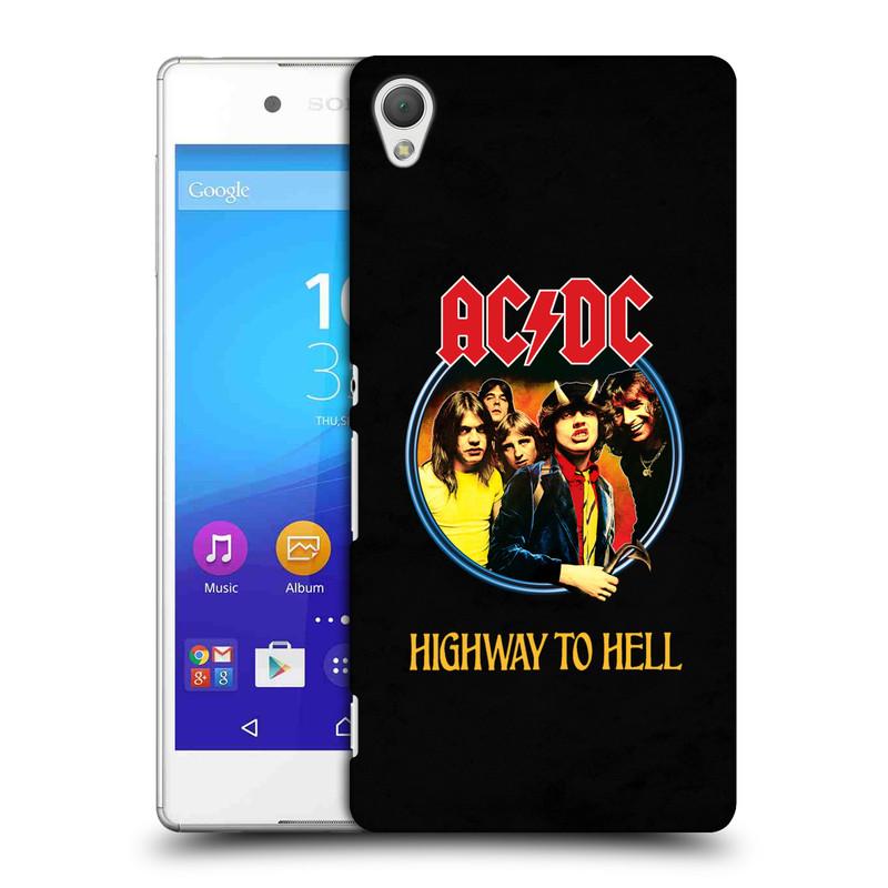 Plastové pouzdro na mobil Sony Xperia Z3+ (Plus) HEAD CASE AC/DC Highway to Hell (Plastový kryt či obal na mobilní telefon s oficiálním motivem australské skupiny AC/DC pro Sony Xperia Z3+ a Sony Xperia Z4 )