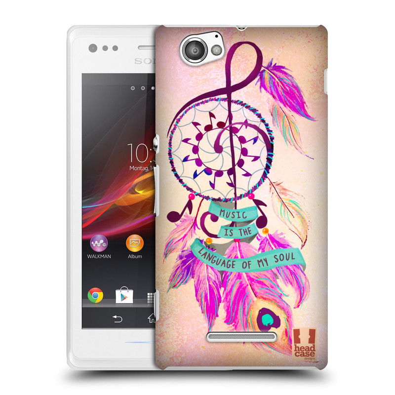 Plastové pouzdro na mobil Sony Xperia M C1905 HEAD CASE Lapač Assorted Music (Kryt či obal na mobilní telefon Sony Xperia M )