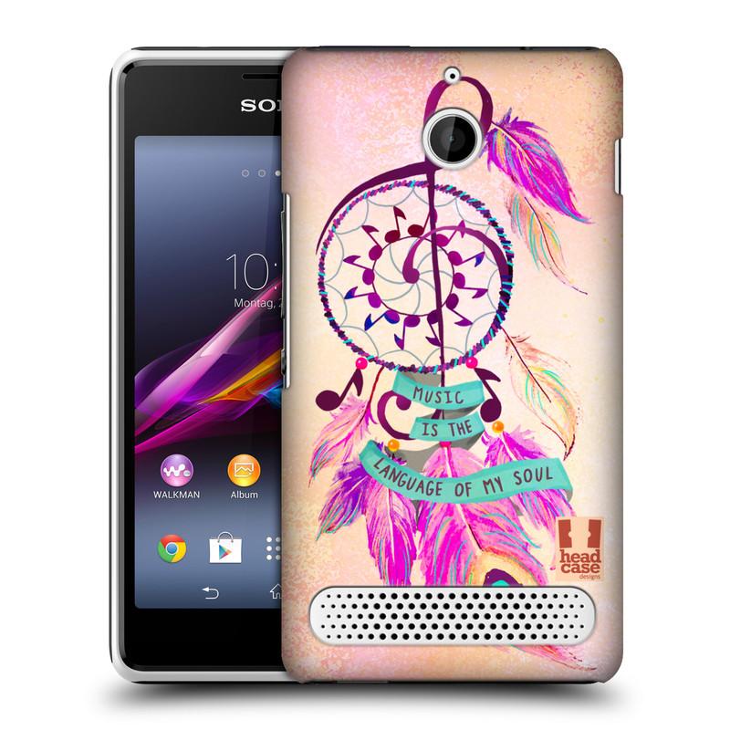 Plastové pouzdro na mobil Sony Xperia E1 D2005 HEAD CASE Lapač Assorted Music (Kryt či obal na mobilní telefon Sony Xperia E1 a E1 Dual)