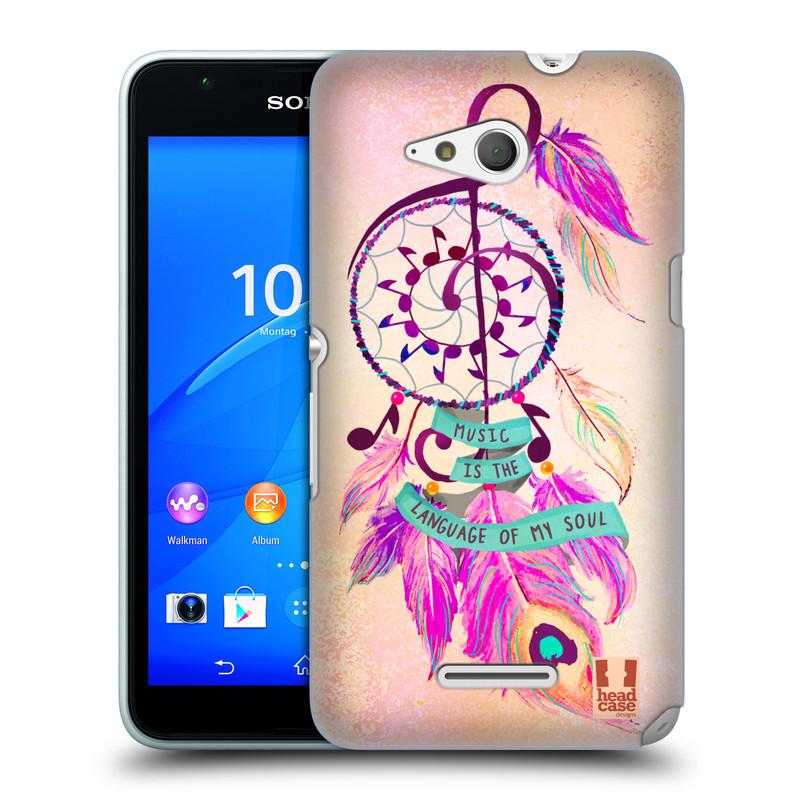 Plastové pouzdro na mobil Sony Xperia E4g E2003 HEAD CASE Lapač Assorted Music (Kryt či obal na mobilní telefon Sony Xperia E4g a E4g Dual SIM)