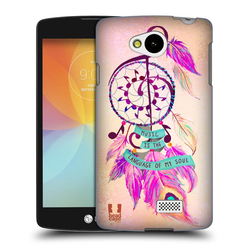 Plastové pouzdro na mobil LG F60 HEAD CASE Lapač Assorted Music (Kryt či obal na mobilní telefon LG F60 D390n)