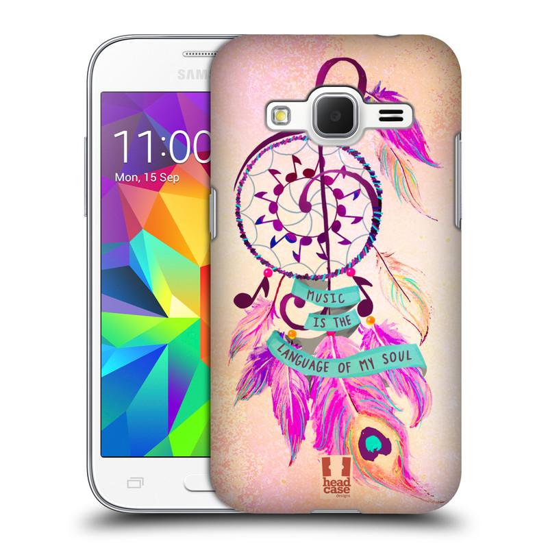 Plastové pouzdro na mobil Samsung Galaxy Core Prime LTE HEAD CASE Lapač Assorted Music (Kryt či obal na mobilní telefon Samsung Galaxy Core Prime LTE SM-G360)