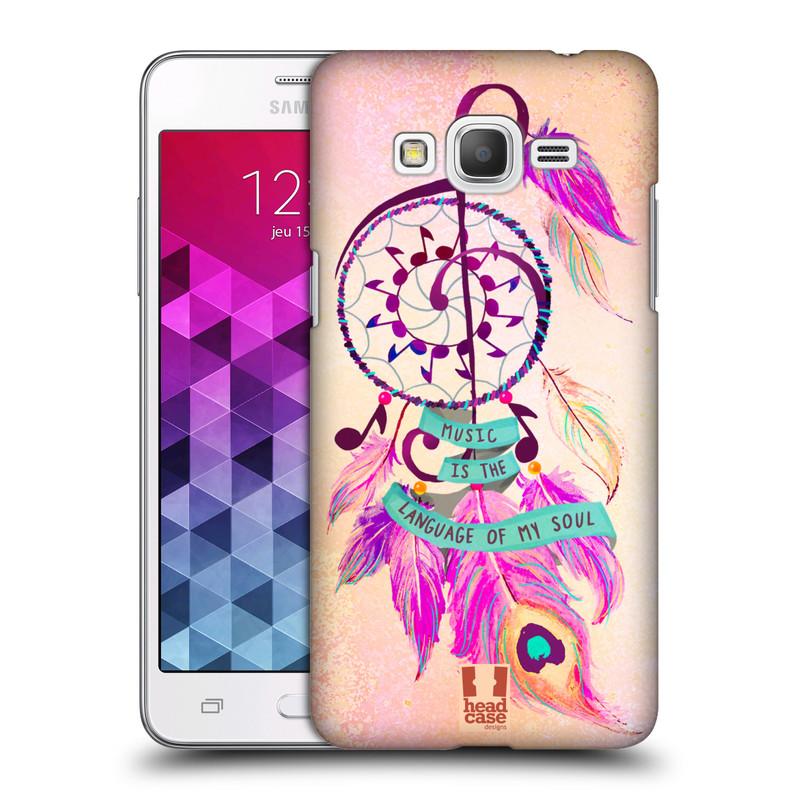 Plastové pouzdro na mobil Samsung Galaxy Grand Prime HEAD CASE Lapač Assorted Music (Kryt či obal na mobilní telefon Samsung Galaxy Grand Prime SM-G530)