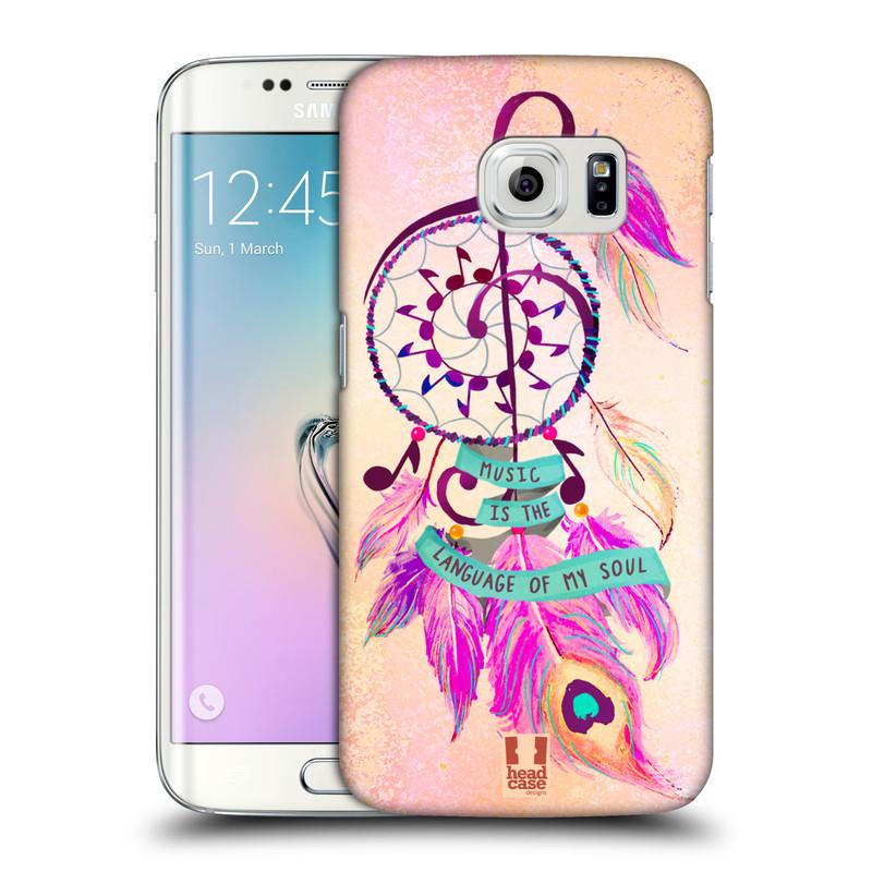 Plastové pouzdro na mobil Samsung Galaxy S6 Edge HEAD CASE Lapač Assorted Music (Kryt či obal na mobilní telefon Samsung Galaxy S6 Edge SM-G925F)