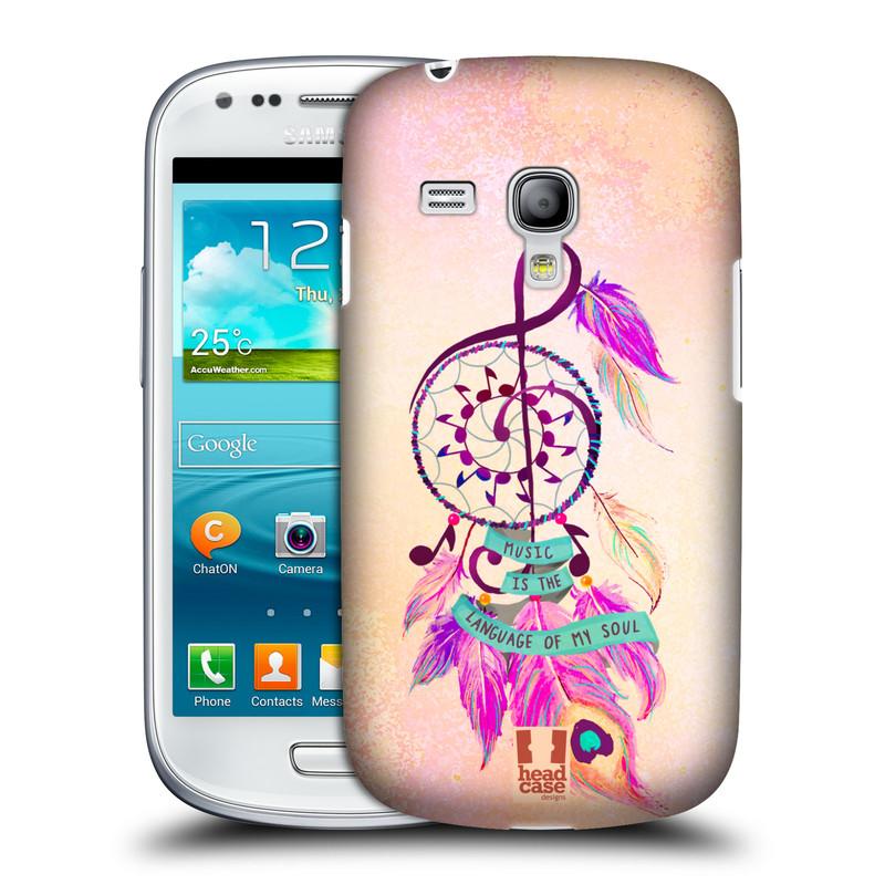 Plastové pouzdro na mobil Samsung Galaxy S III Mini HEAD CASE Lapač Assorted Music (Kryt či obal na mobilní telefon Samsung Galaxy S III Mini GT-i8190)