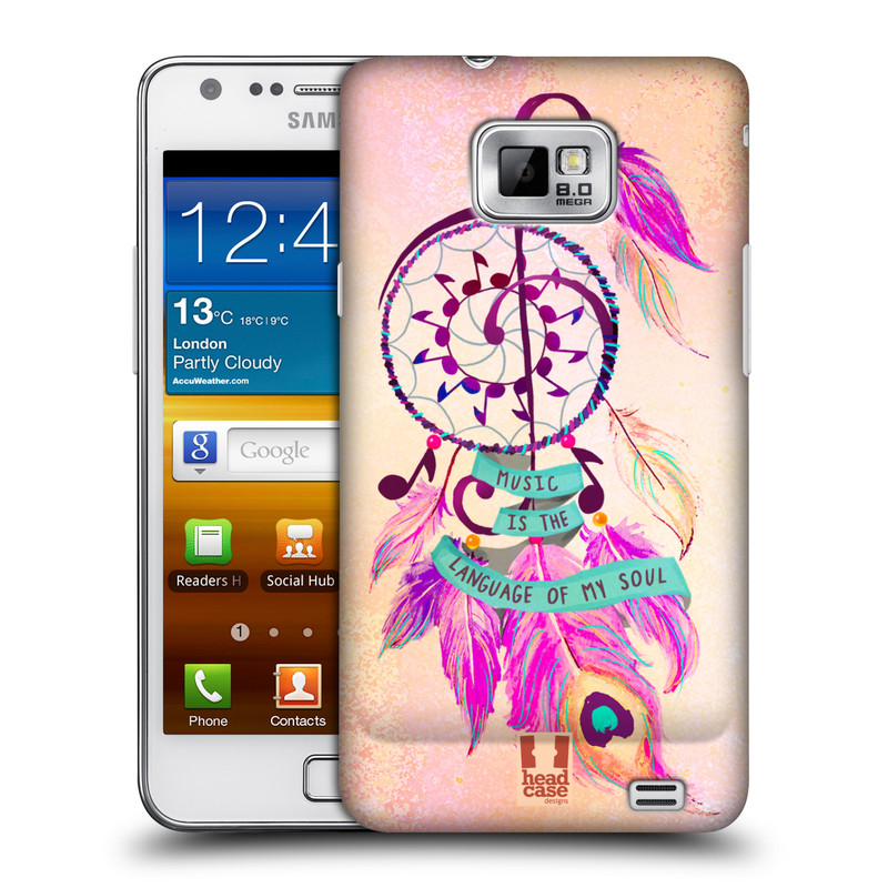 Plastové pouzdro na mobil Samsung Galaxy S II HEAD CASE Lapač Assorted Music (Kryt či obal na mobilní telefon Samsung Galaxy S II GT-i9100)