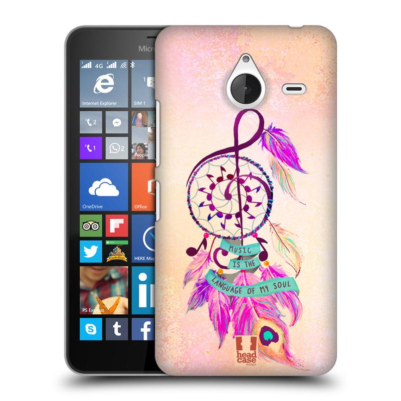 Plastové pouzdro na mobil Microsoft Lumia 640 XL HEAD CASE Lapač Assorted Music (Kryt či obal na mobilní telefon Microsoft Lumia 640 XL)