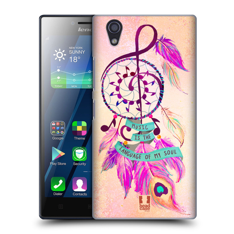 Plastové pouzdro na mobil Lenovo P70 HEAD CASE Lapač Assorted Music (Kryt či obal na mobilní telefon Lenovo P70)