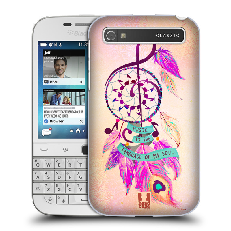 Plastové pouzdro na mobil Blackberry Classic HEAD CASE Lapač Assorted Music (Kryt či obal na mobilní telefon Blackberry Classic)