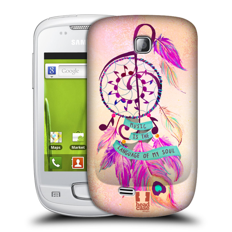 Plastové pouzdro na mobil Samsung Galaxy Mini HEAD CASE Lapač Assorted Music (Kryt či obal na mobilní telefon Samsung Galaxy Mini GT-S5570 / GT-S5570i)