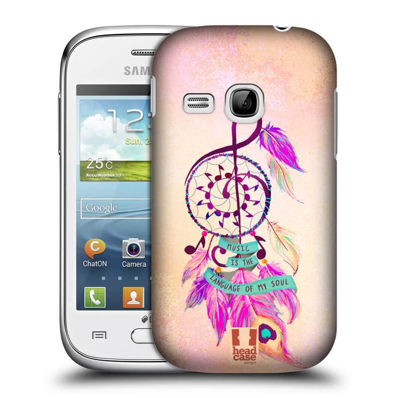 Plastové pouzdro na mobil Samsung Galaxy Young HEAD CASE Lapač Assorted Music (Kryt či obal na mobilní telefon Samsung Galaxy Young GT-S6310)